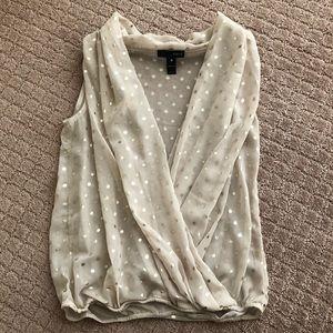 Aqua sheer blouse